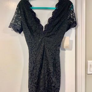 NWT TOBI black lace mini dress